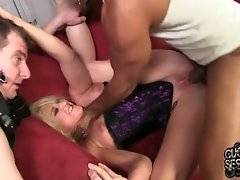 Shane Diesel skillfully works at Leya`s pussy making her squirt a lot.