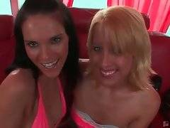 Two hot looking young lesbians are craving for some fun.