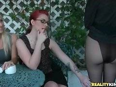 Three naughty chicks get very horny and start to tender each other.