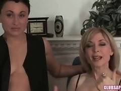Masculine lady is fond of having sex with pretty lady Nina Hartley.