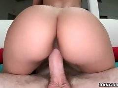 Slutty cutie Remy rubs her clit while jumping on thick dick.