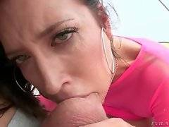 Sexy Kimberly is choking on Mike`s rod before getting it inside her ass.