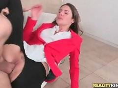 Horny Erik puts his heavy boner from Samantha`s to Lily`s pussy.