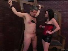 Slave has disappointed his sexy mistrees when didn`t get the promotion.