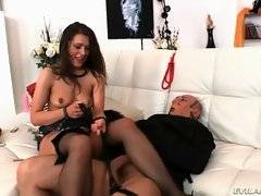Mistress is fond of getting her asshole furiously drilled by her slave.