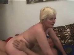 Horny grandma greatly enjoys good cock riding.