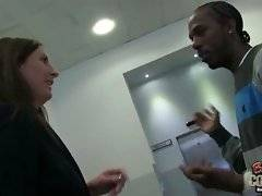 Pretty milf Lara Latex meets black guy Charlie and invites him to her place.