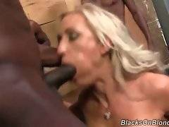 Five hungry black dude attacks lovely white milf.