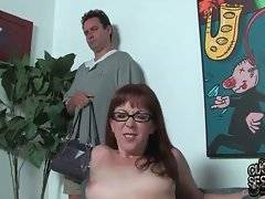 Trinity Post does her best to get creamed by her two black fuckers.