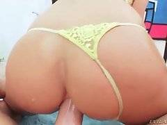 Amazing Courtney Taylor moves up and down Mike`s dick with her ass.
