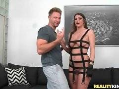 The view of almost naked Brooklyn Chase drives Levi Cash crazy.