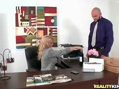In this porn video you can see happy Charity Mclain