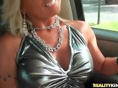 This attractive mature blonde seems to be very naughty.