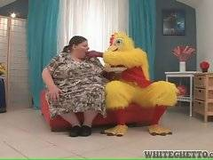 Chubby mature chick Antonia C is extremely hungry.
