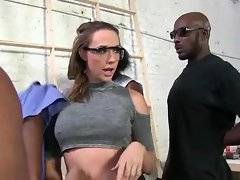 Chanel Preston is designing her studio and four black guys do all hard job.