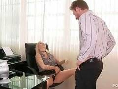 Naughty bitch is dreaming about sex with her boss