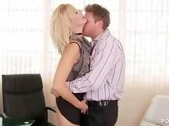 Amateur buddy is playing with her pussy in the office