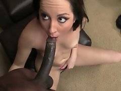 Marley Blaze is ready to welcome Wesley`s huge black dong inside her ass.