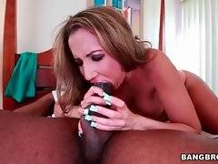 Lovely Richelle Ryan passionately sucks Jack Napier`s huge shaft.