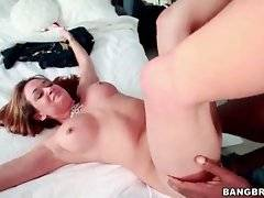 Awesome Tory Lane gives her black lover passionate blowjob.