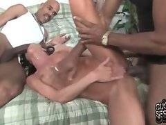 Cecilia Vega is fond of getting her pussy and mouth filled with fat black dicks.