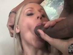 Awesome blond lady Julia Ann is extremely big black cock hungry.