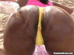 Watch and enjoy the view of Tia`s meaty chocolate ass.