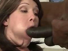 Slutty Sasha Knox tastes her own pussy juices from Wesley Pipes` huge dick.