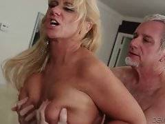 Turned on man thoroughly penetrates slutty lady Zena Rey.