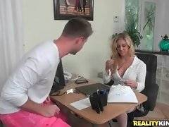 Cherie Deville comes to help Levi Cash with his taxes and he is very glad to welcome her.