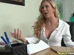 Levi Cash is spying after sexy Cherie Deville doing her job.