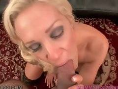 Amazing slutty milf Ava Delane is good at cock sucking.
