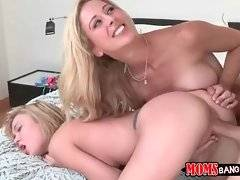 Lovely milf Cherie likes to watch her step daughter getting fucked hard.