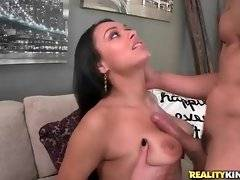 Curvaceous Bethany Benz gives horny Bruno Dickenz hot blowjob.