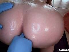 Playful blond Rachel Rayye is fingering her craving asshole.