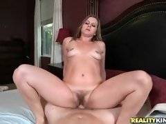 Lovely milf Miss Melrose greatly enjoys vigorous cock riding.