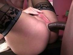 Nasty milf Simone Sonay likes to feel thick black cocks inside all her holes.