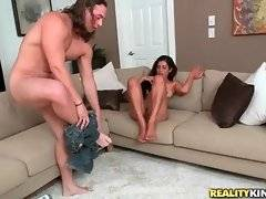 Horny Tarzan works his tongue at Sofia Rivera`s juicy cunt.