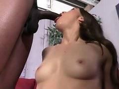 Cute Tiffany Doll starts passionately sucking two huge black dicks.