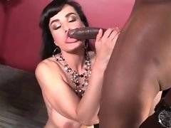 Awesome breasted white milf gets fucked by black guy in her office.