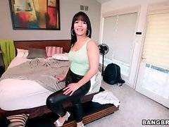 Latina Rose, a happy owner of amazing big booty, is here today to have some fun.
