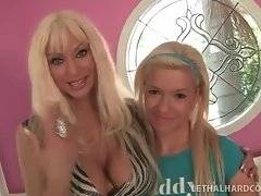 Big boobed blonde Isabella Rosa introduces her sweet daughter.