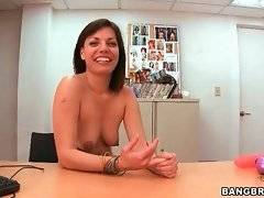Jaycee Naugty opens her mouth to catch lover`s fresh spunk.