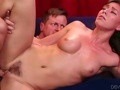 Awesome Rilynn Rae loves to have her bushy pussy poked.