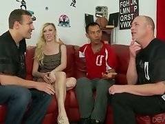 Guy introduces Maia Davis to his two friends and they want to get sure she`s a real girl.