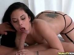 Naughty Coco Valentina enjoys the taste of Tyler Steele`s big dong.