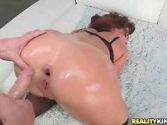 Chris Strokes pleasures booty Savannah Fox with deep anal.
