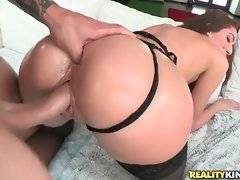 Turned on Chris Strokes pounds lovely Vivie Delmonico from the rear.