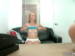 Adorable young slutie Brittney Cruise fleshes her nice tits.