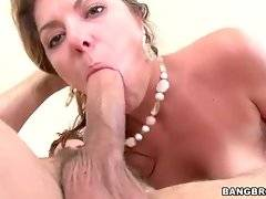 This hot shaped milf is fond of sucking nice big cock.